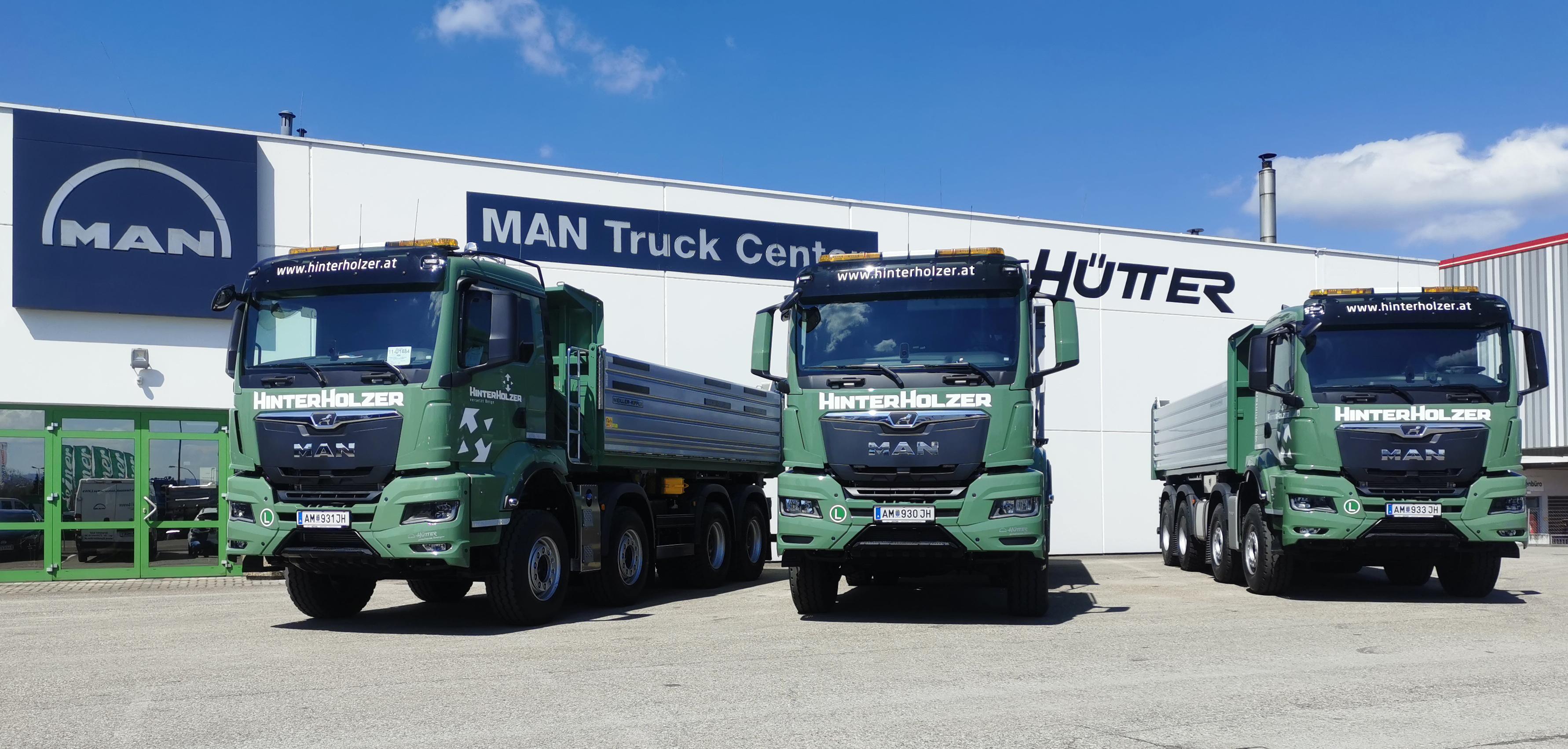 neue MAN Trucks für Fa. Hinterholzer